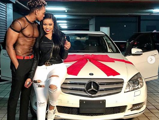 PHOTOS: Kenyan socialite buys new boyfriend Mercedes Benz to 'spite' ex boyfriend