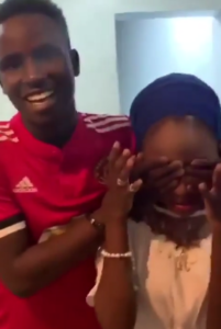 VIDEO: 19 year old student surprises his 16-year-old girlfriend with a Benz and Iphone X Max in Nigeria