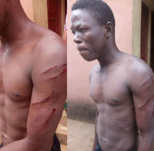 Photos: Woman orders thugs to beat up her gateman for demanding for his salary
