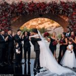PHOTOS: Singer Miguel & his girlfriend of 13 Years Nazanin Mandi tie the knot in a romantic wedding
