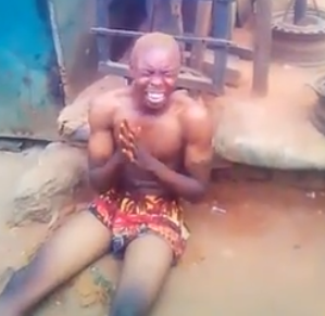 VIDEO: 'Sakawa' boy runs mad at his father's funeral; confesses to using father for ritual