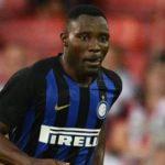 Kwadwo Asamoah in action as Inter's seven-match winning run ended at Atalanta