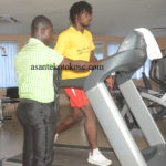 Kotoko striker Yacouba back in the gym as he steps up recovery