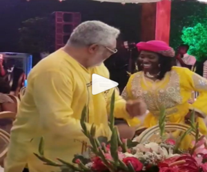 VIDEO: Rawlings surprises guests with a spectacular dance at wife's 70th birthday