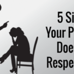 5 Signs your partner doesn't respect you