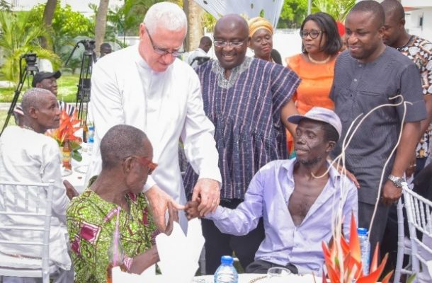 Bawumia's treatment of lepers has made me the happiest man – Father Campbell
