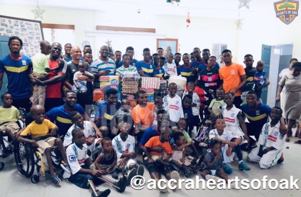 Hearts of Oak donate to Orthopedic Training Centre ahead of Christmas celebration
