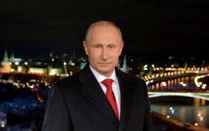 Russian President Vladimir Putin Addresses People as New Year Arrives (VIDEO)