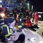 Six people die during stampede at a rap concert in an Italian nightclub