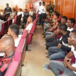 PHOTOS: Economic and Financial Crimes Commission arraigns 24 University students suspected to be 'Sakawa' boys