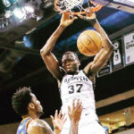 Ghana's NBA star Amida Brimah features in Spurs lose