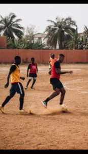 VIDEO| Jerome Boateng plays football with kids on bare pitch in Accra