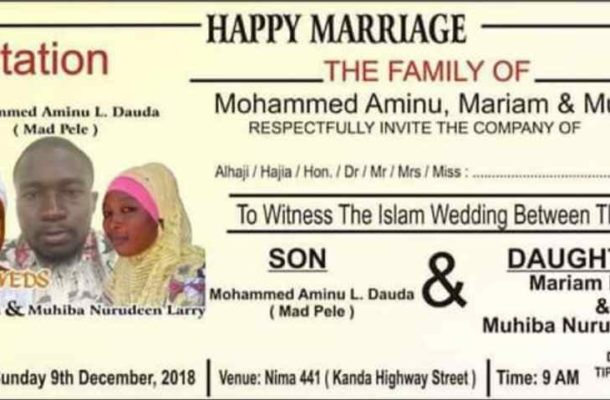 Video: Ghanaian man goes viral for MARRYING TWO WOMEN on the SAME DAY