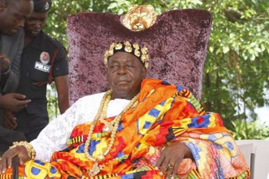 His Royal Majesty Torgbe Sri on a historic visit to Manhyia
