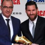 Lionel Messi: Barcelona forward wins record fifth Golden Shoe award
