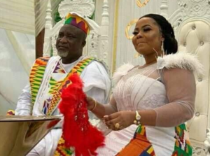 VIDEO: NPP's Hopeson Adorye finally ties the knot with gospel singer Gifty Osei