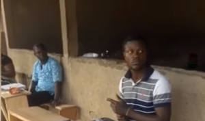 VIDEO: Man caught on camera thumb printing multiple ballot papers