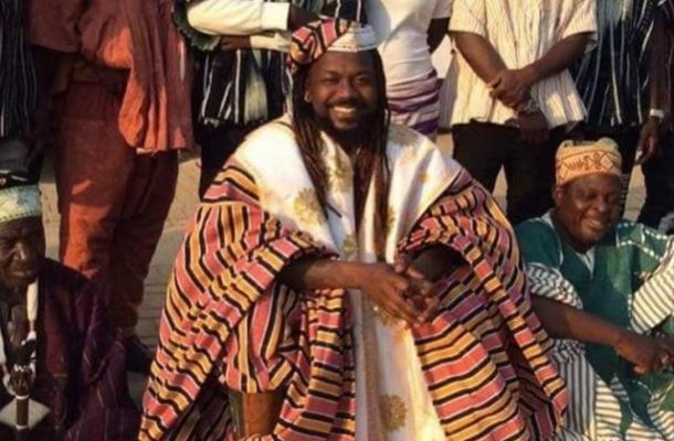 PHOTO: Samini installed Sub-Divisional chief of Wala Traditional Area