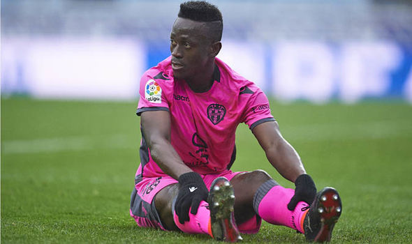 Levante forward Emmanuel Boateng set to miss Valladolid clash due to muscle injury