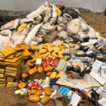 PHOTOS: Police burns a huge pile of Indian hemp, Tramadol, cocaine, synthetic marijuana and others