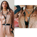 Beyonce flaunts her cleavage as she poses in a polka dot jumpsuit and diamonds in new sexy photos