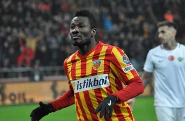 Kayserispor allow Asamoah Gyan to return to Ghana on compassionate leave as striker attempts to resolve family issues