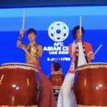Emirati Japanese drummers bring the beat to the Abu Dhabi fan zone