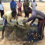 SHOCKER: Woman caught alive by fishermen's net at Kasoa