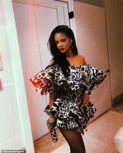 PHOTOS: Rihanna rocks sexy leopard Ruffle mini dress to Beyoncé and Jay-Z's Oscars after-party