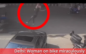 Thrown Off a Flyover, Indian Woman Survives Fatal Fall (GRAPHIC VIDEO)