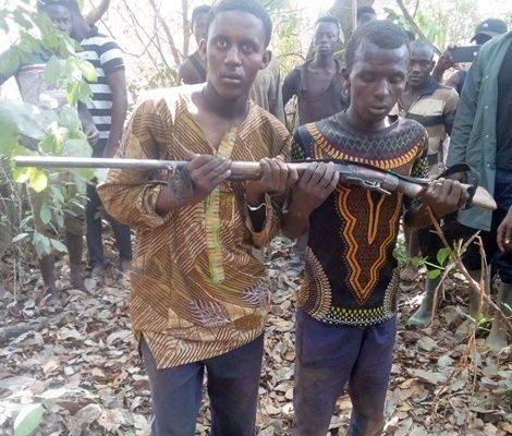 Two Fulani herdsmen arrested for stealing farmer's gun in Atebubu: