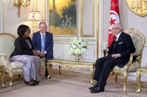 Ayorkor Botchway pays visit to Tunisian President on a two day tour