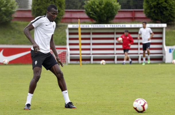 Sporting Gijon star Isaac Cofie battling muscle injury