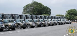 PHOTOS: Akufo-Addo presents 140 cars to Ghana Armed Forces