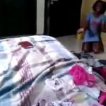 VIDEO: Drama as househelp is caught with panties belonging to her madam and daughter