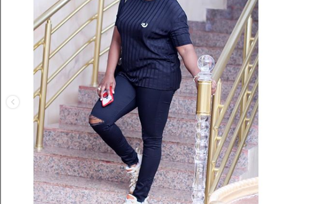 PHOTOS: Actress Funke Akindele flaunts her post-baby body 2-month after giving birth to twin boys