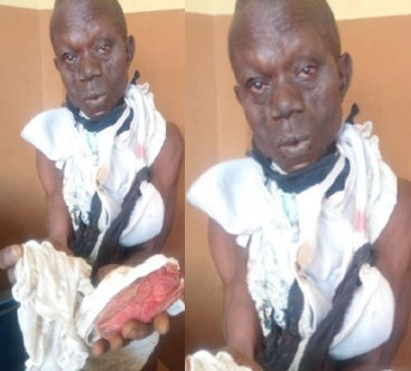 PHOTO: Man apprehended with female pants; claims POPULAR prophet sent him to steal them