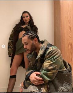 PHOTOS: The Weeknd and girlfriend Bella Hadid rock matching camouflage outfits to his lavish birthday party