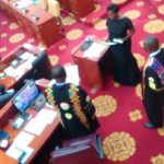 Parliament swears in Lydia Seyram Alhassan, minority stages a walk out