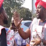 VIDEO: John Dumelo, Yaw Dabo, Kalybos, others turn bread sellers in Accra