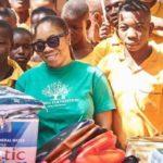 Moesha donates stationary to U/W school to mark birthday