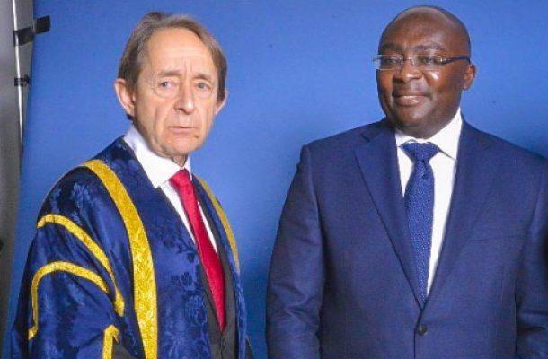 """You're our most distinguished alumnus ever"" – Buckingham varsity VC tells Bawumia"