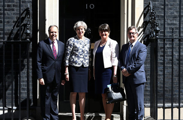 Theresa May, Cabinet Ministers in Urgent Talks With DUP Ahead of 3rd Brexit Vote