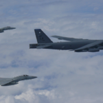 Two US B-52 Bombers Train with Japan Air Forces Over East China Sea