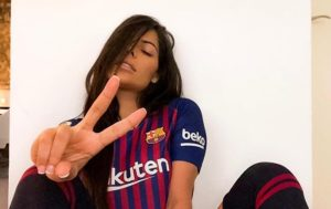 Miss BumBum Posts Sexy Sporty Photoshoot Rooting for Barcelona