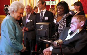 Stephen Hawking and Queen Elizabeth Share Sides of 'Black Hole Coin' (VIDEO)