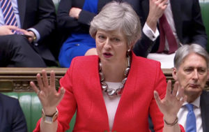 Vexed Woman Heard Saying 'Oh, Please' on VIDEO After May's Brexit Speech