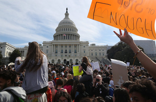 Students Lobby for Gun Control in Second Annual National Walkout Day (VIDEOS)