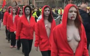 Breasts vs Guns: TOPLESS Women Join Yellow Vests Protests (VIDEO)