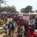 Placards scream 'war' as anti-Shaanxi demo rocks Talensi